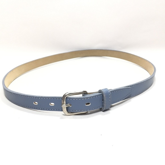 c80afeaec Accessories | Womens Baby Blue Croc Print Skinny Belt Sz Small ...